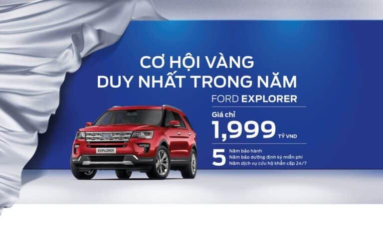 Giảm giá siêu mạnh Ford Explorer chỉ với 1,999 tỷ cùng Nha Trang Ford