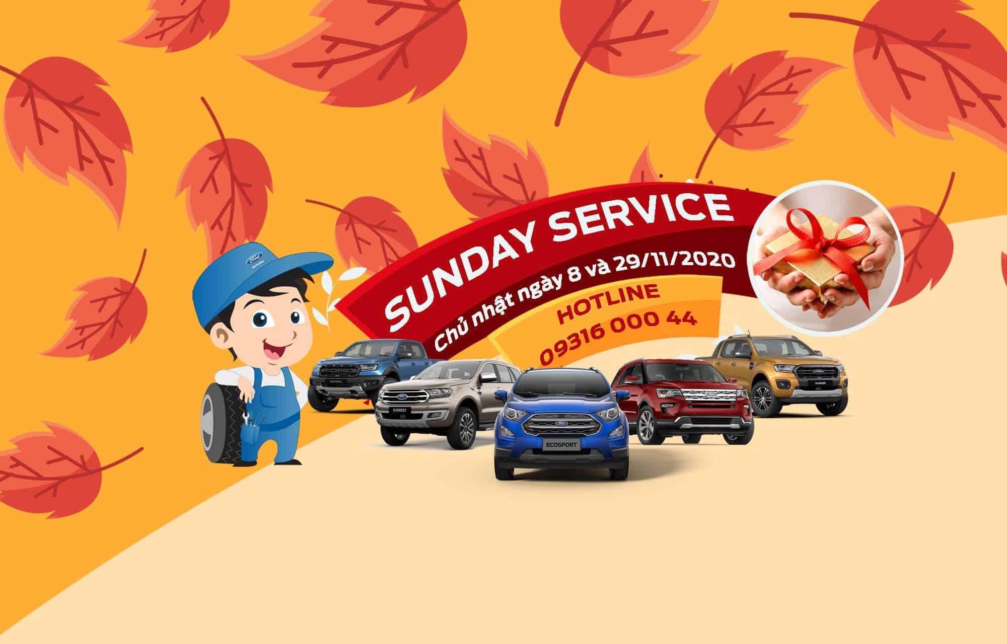 Chương trình ngày chủ nhật dịch vụ - Sunday Service tại Nha Trang Ford